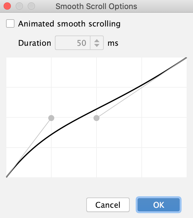 Smooth Scroll Options dialog