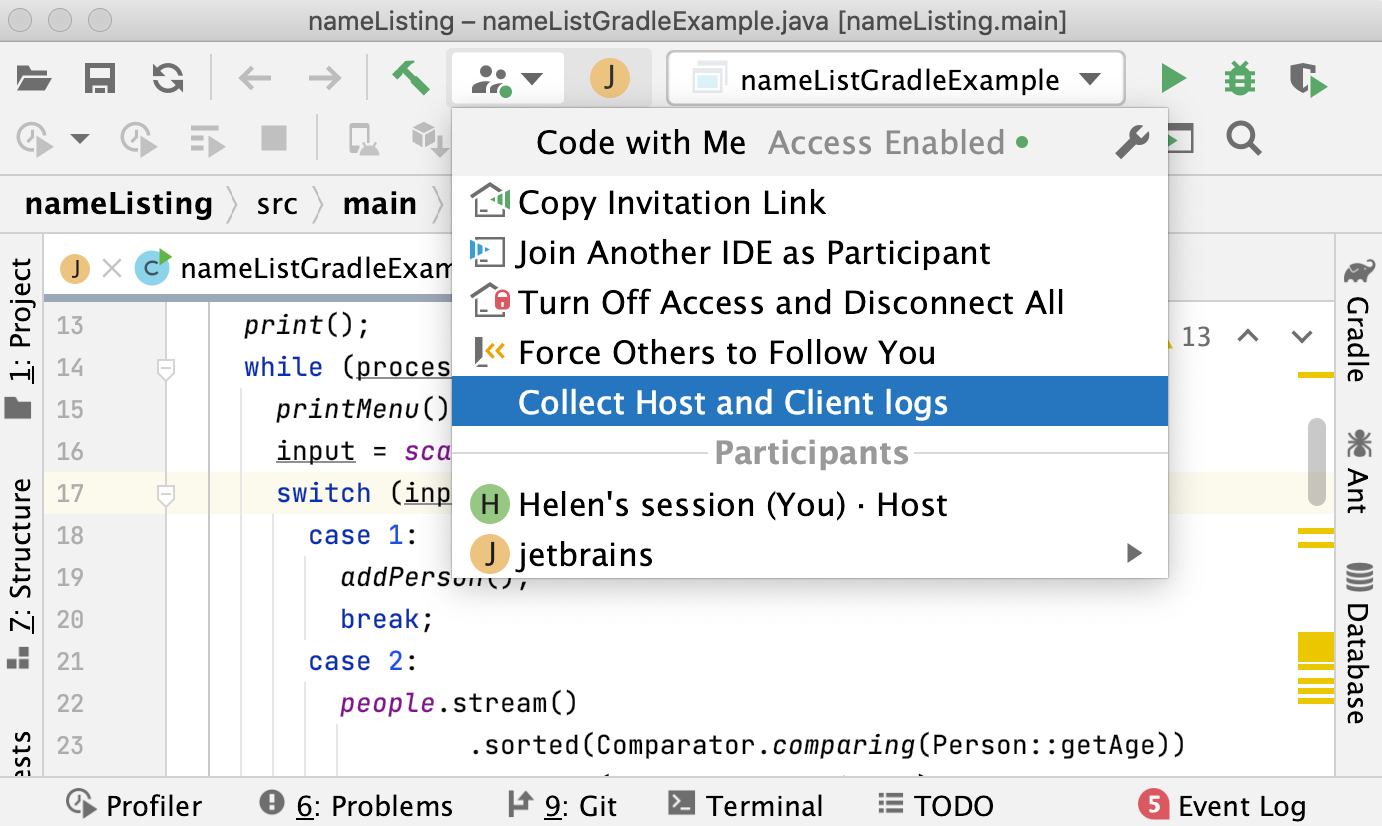 Collect Host and Client logs
