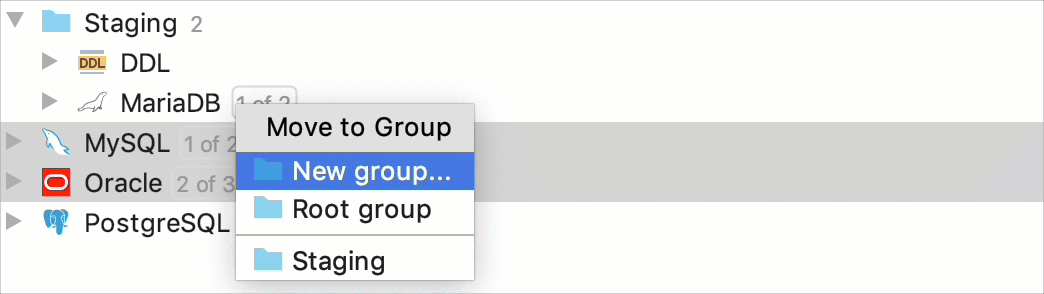Group data sources