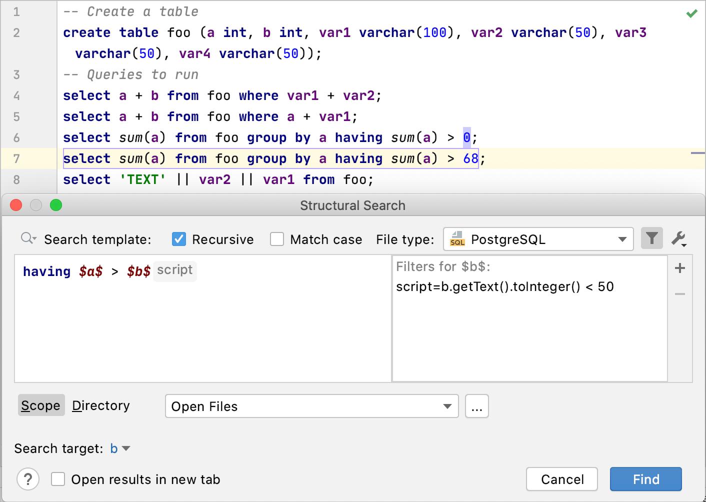 The Script filter
