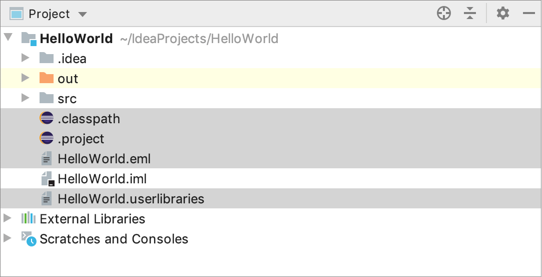 The project is exported to Eclipse