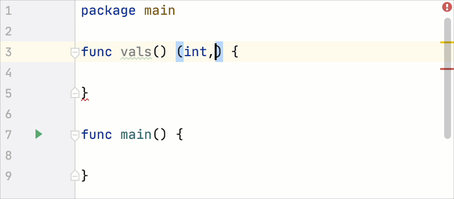 Code editing: add parentheses around return types after the comma in a multi-value return