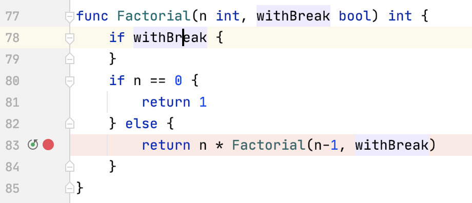 Debug a line breakpoint
