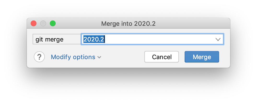The Merge dialog