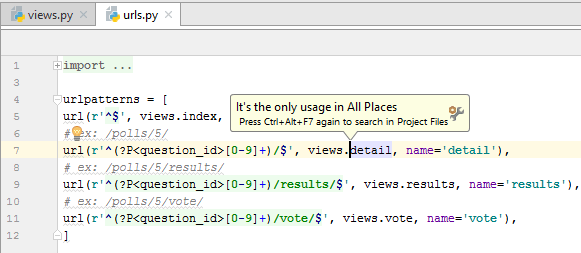 py jump from view to url result png