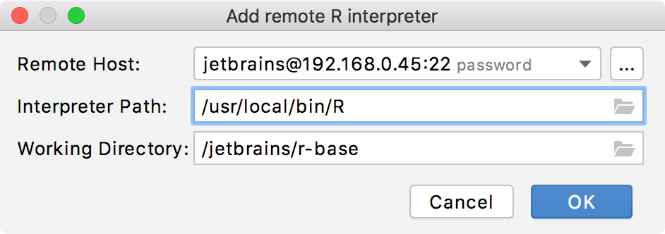 remote R interpreter
