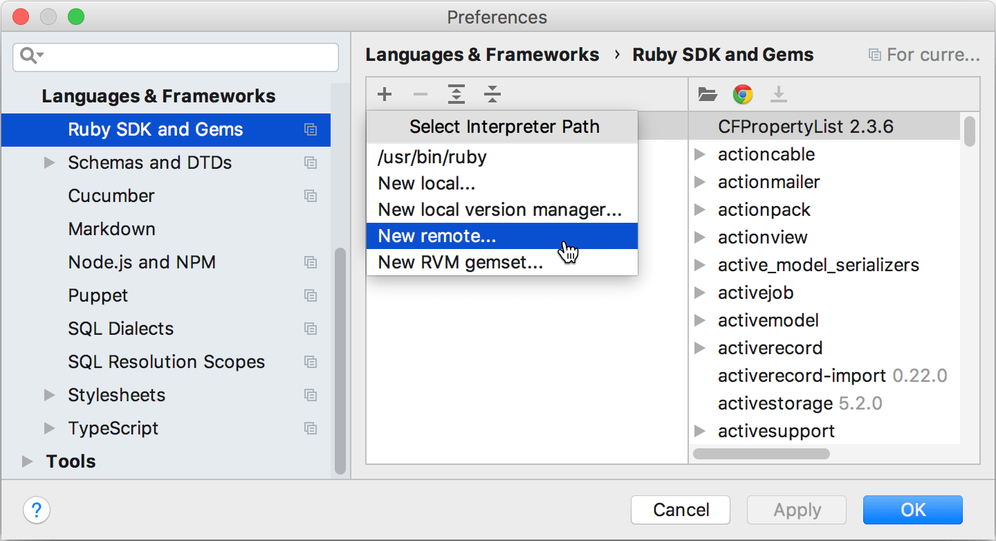 rm add remote ruby interpreter png