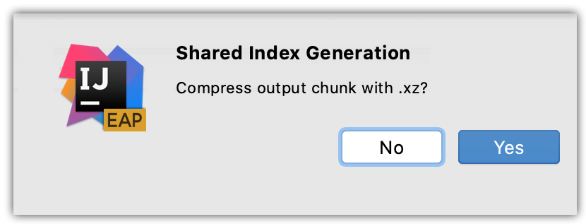 Notification prompting you to compress indexes