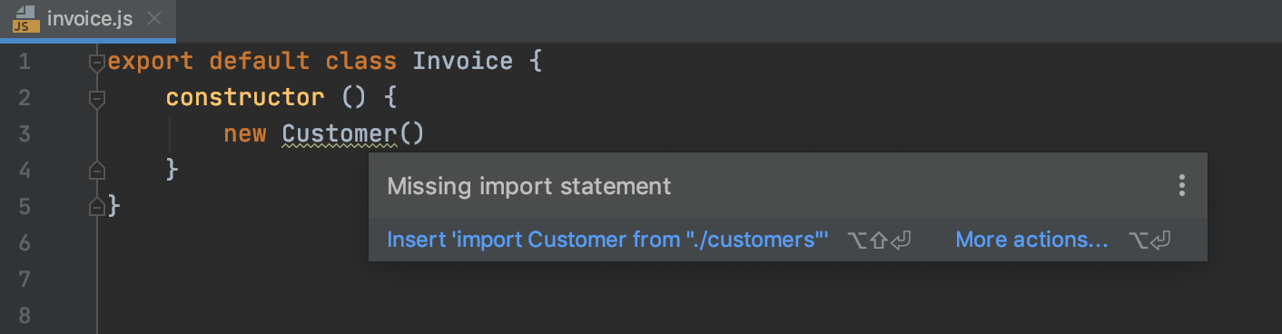 Autoimport with quick-fix: information tooltip