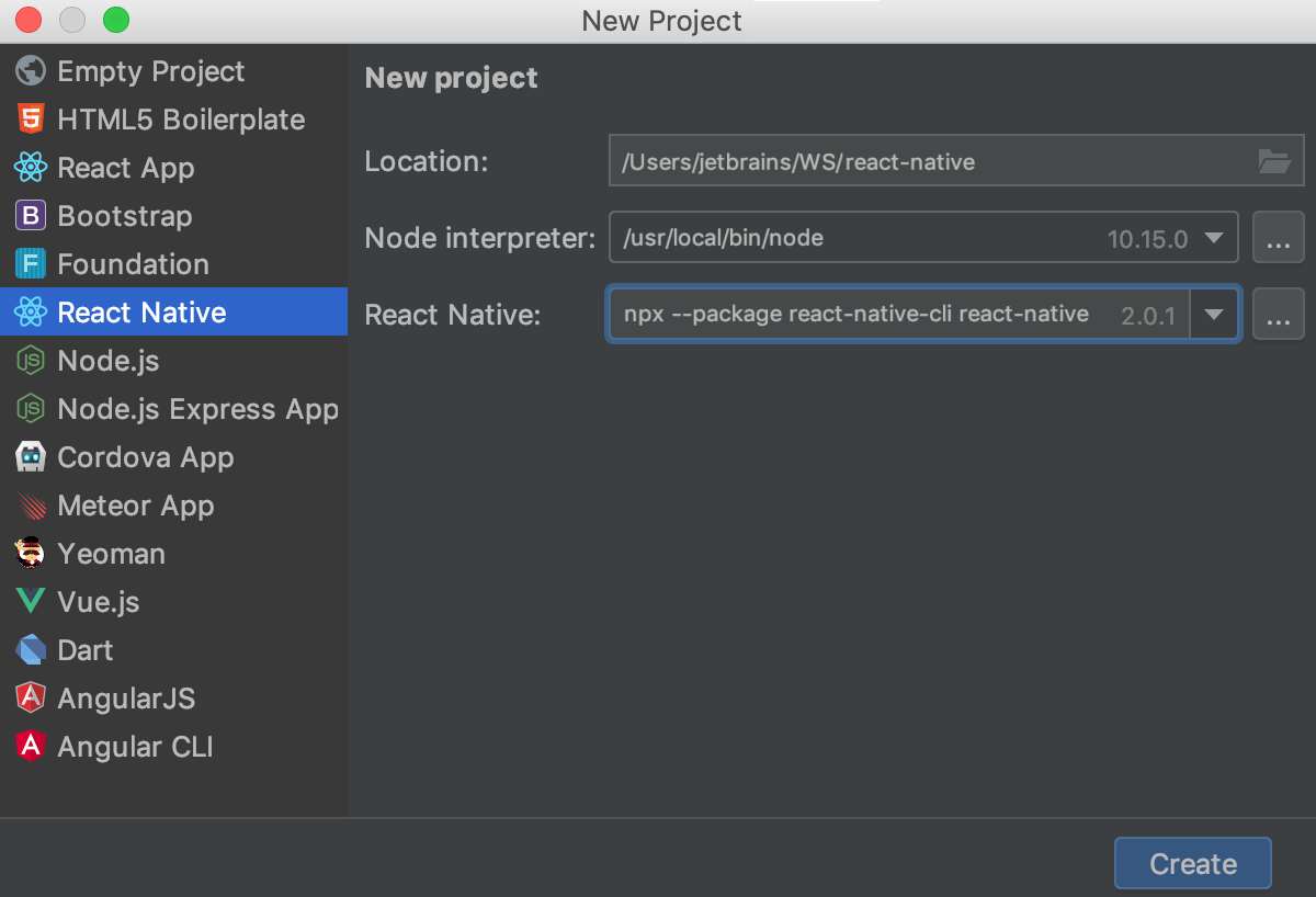 Creating a React Native app