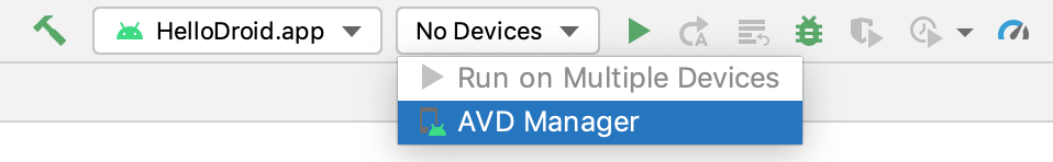 launch AVD Manager