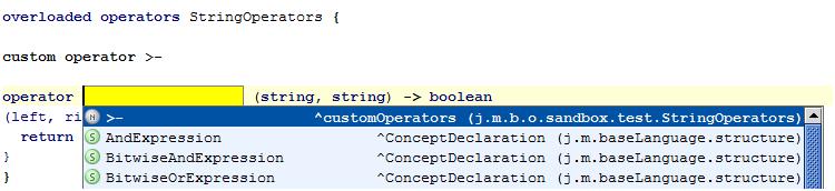 Capture custom operator