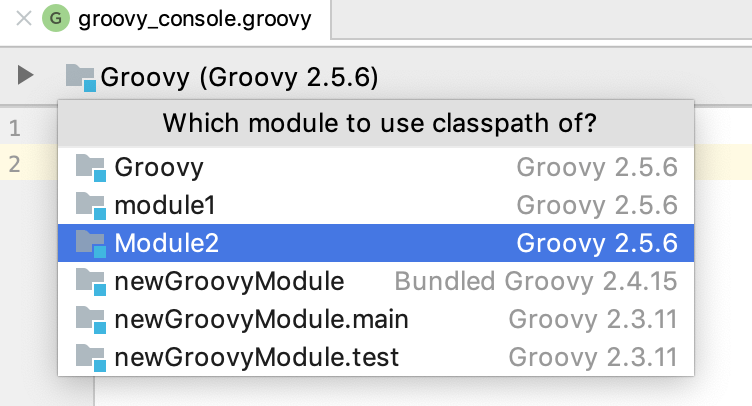 Groovy module console