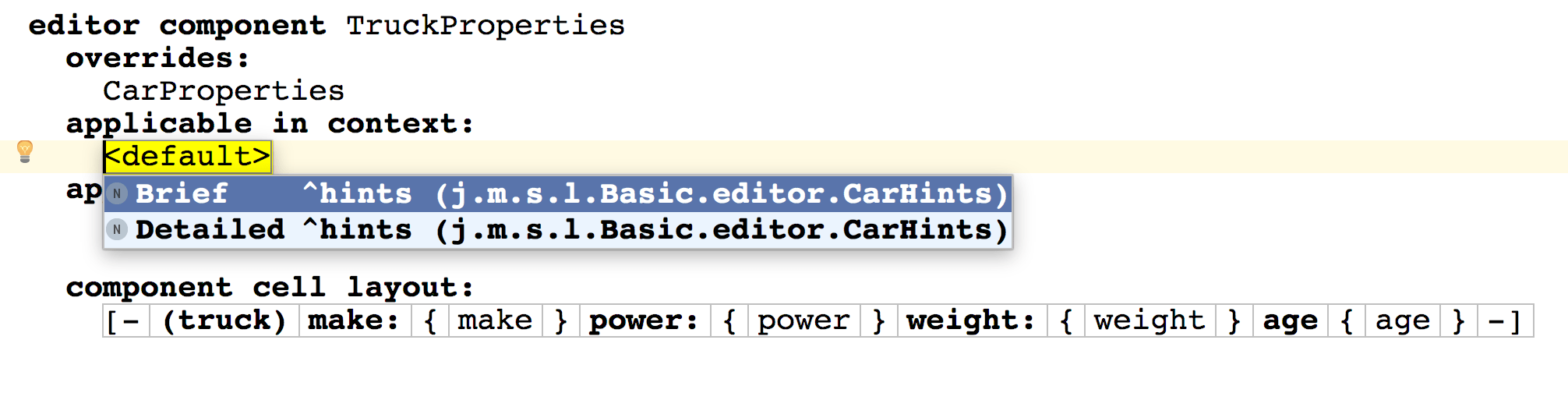 Hints in components1