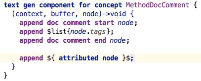 Method doc comment attribute
