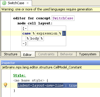 Switch case editor