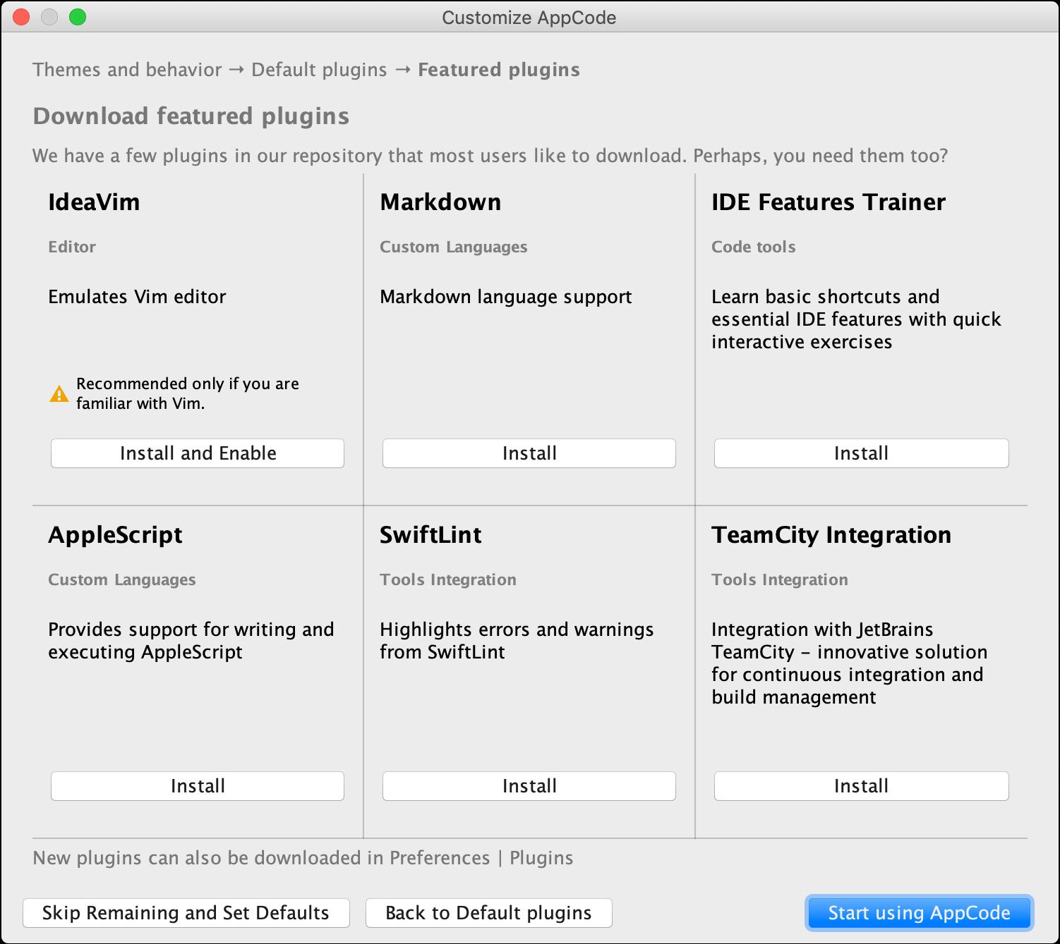 Install additional plugins