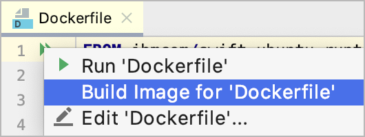 The Build Image on Docker popup