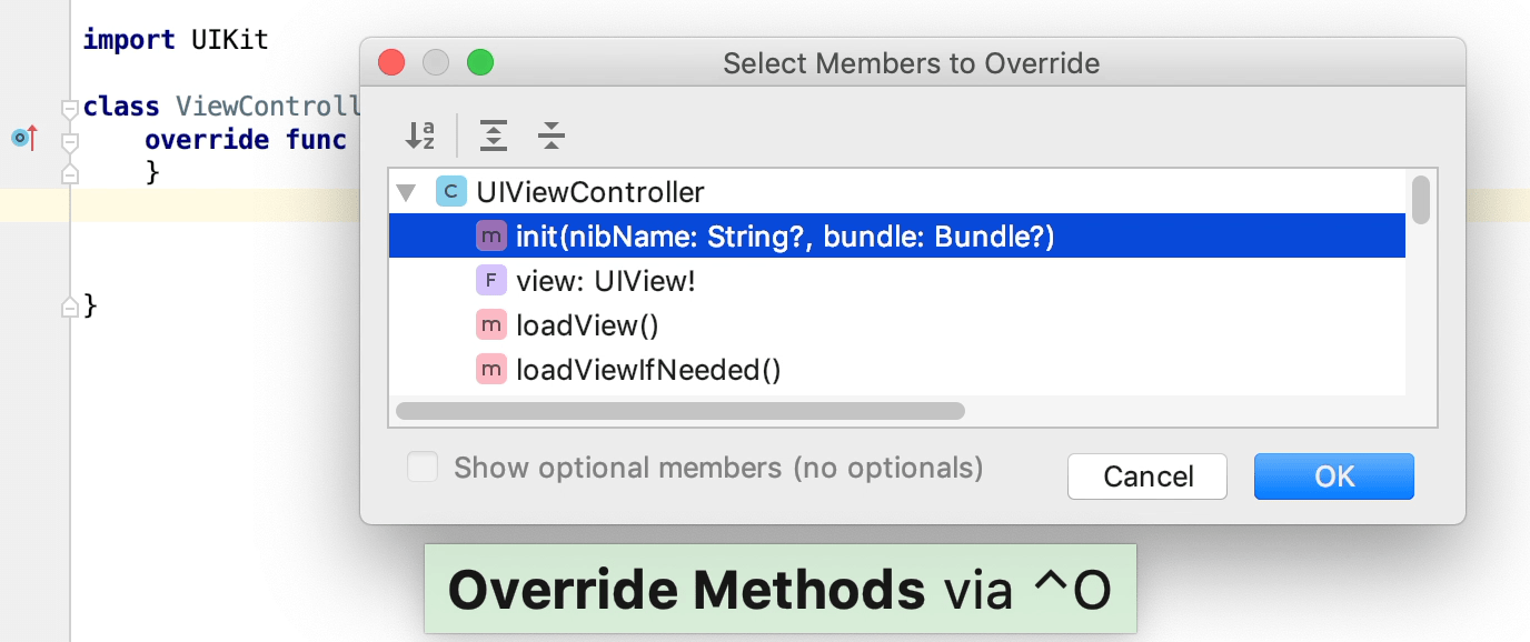 override method of a superclass