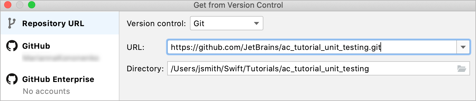 Getting a project from GitHub