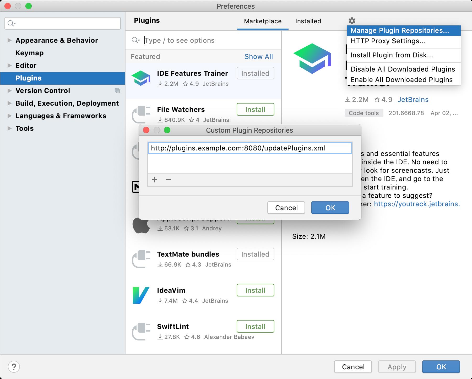 How to add a custom plugin repository
