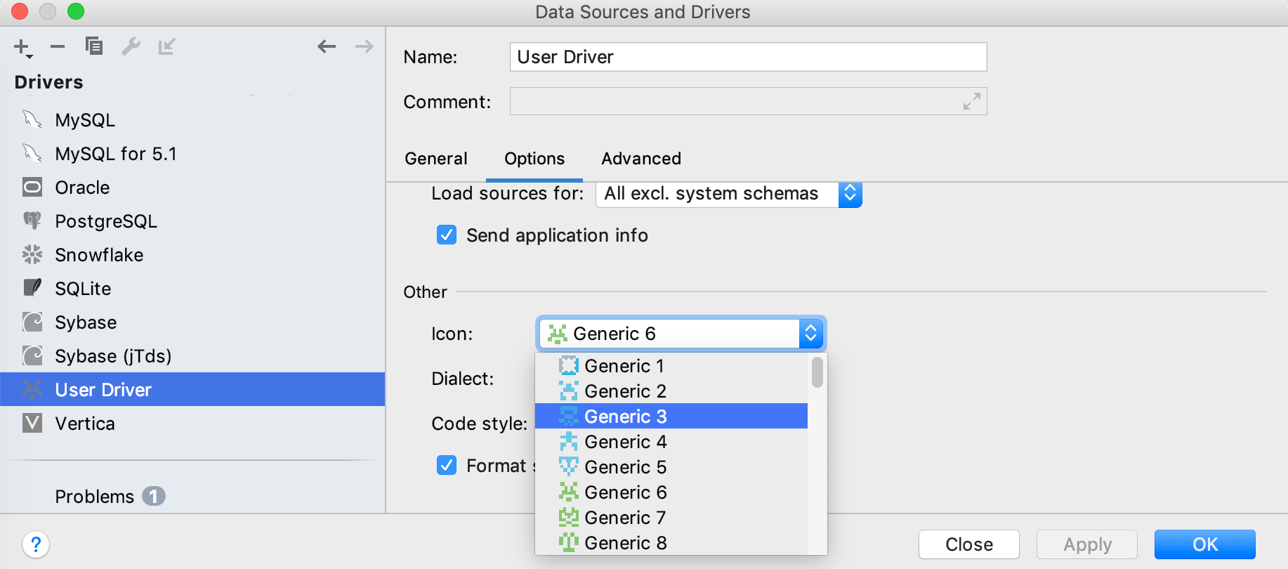 Add an icon to the user driver