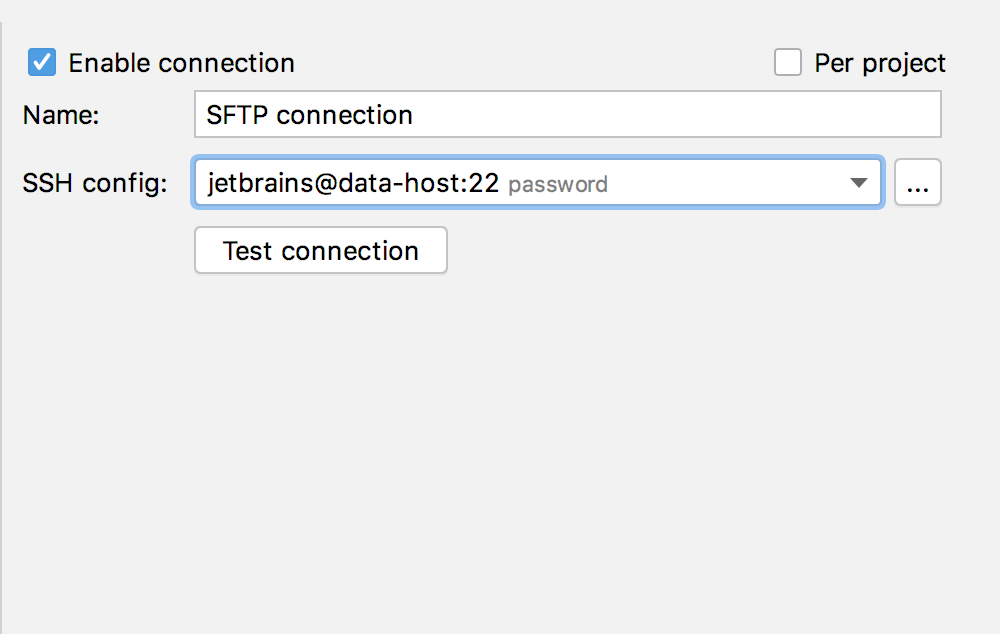SFTP connection
