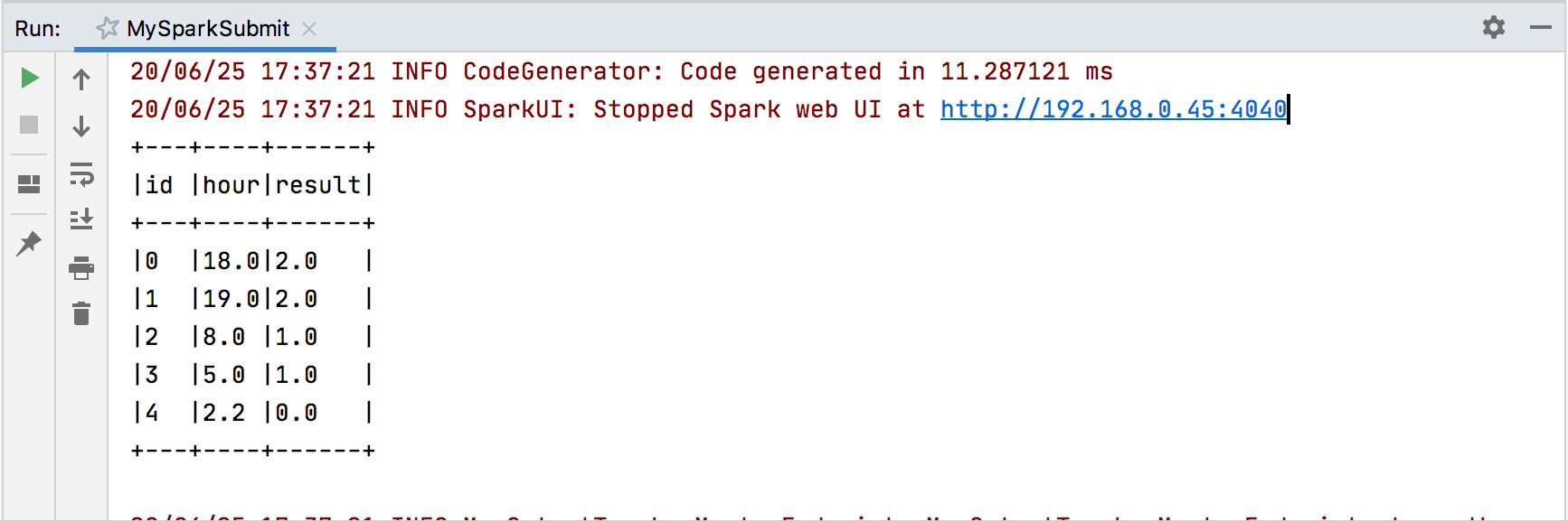 Running a Spark applicaion