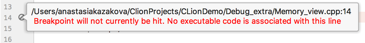 invalid breakpoint