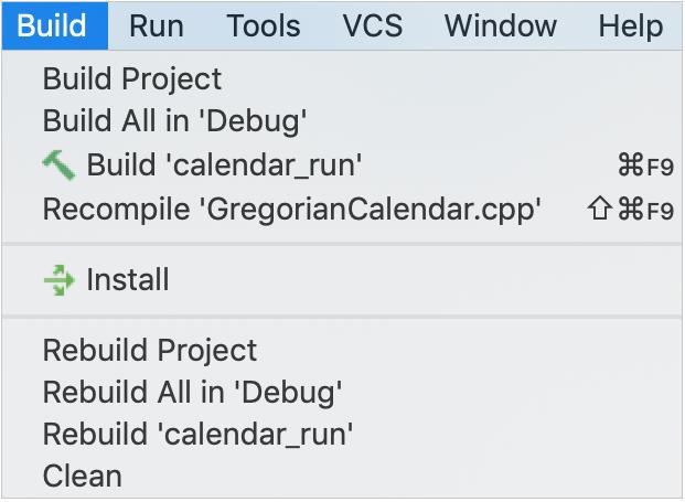 build menu