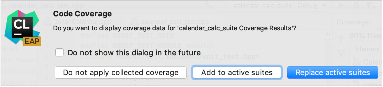 Merging several coverage suites