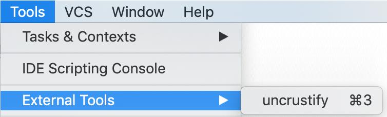 external tools menu