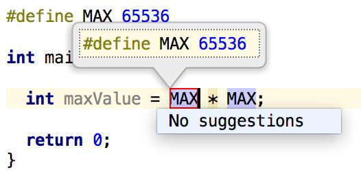 Cl extract define macro name