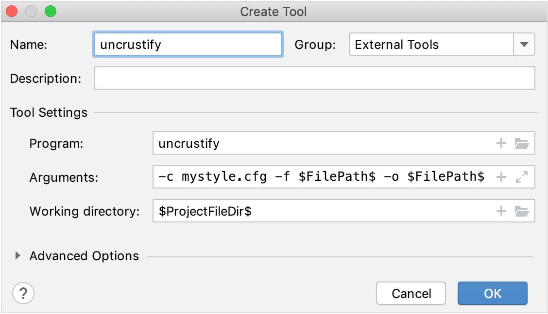 Adding an external tool