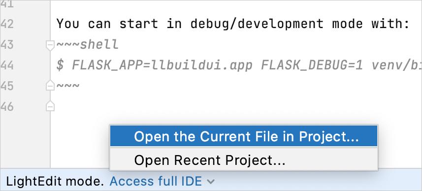 Access full IDE