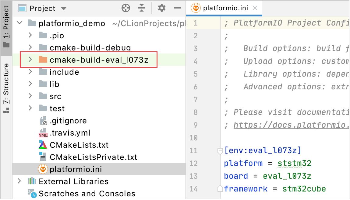Build folder excluded