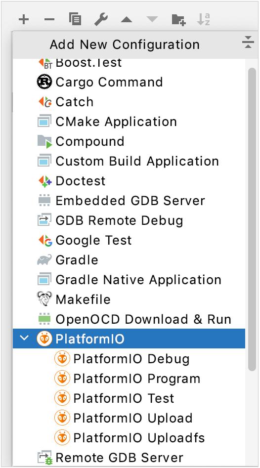 PlatformIO configurations