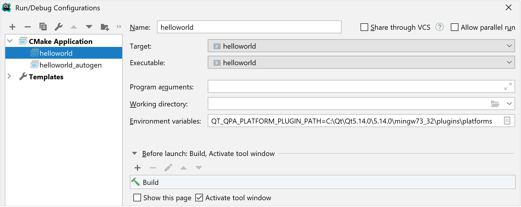 Environment variable for the Qt plugins path
