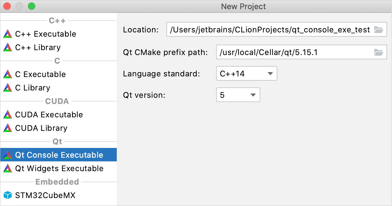 Qt project templates