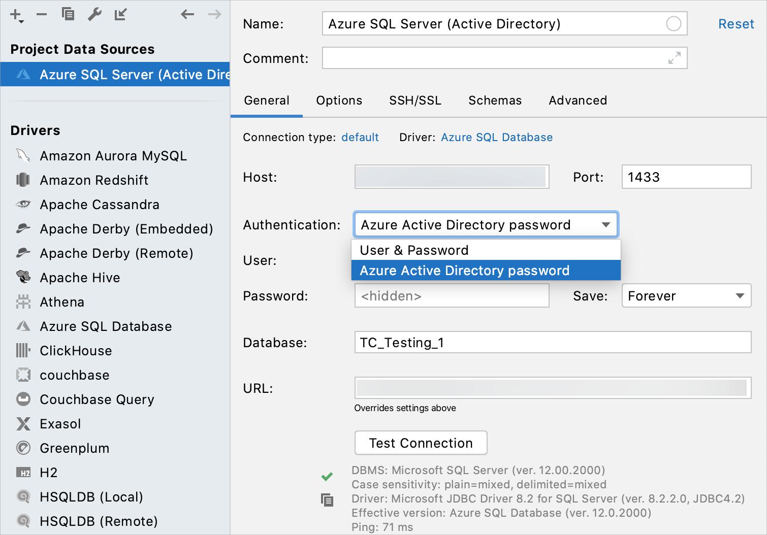 Integration with Azure SQL Database