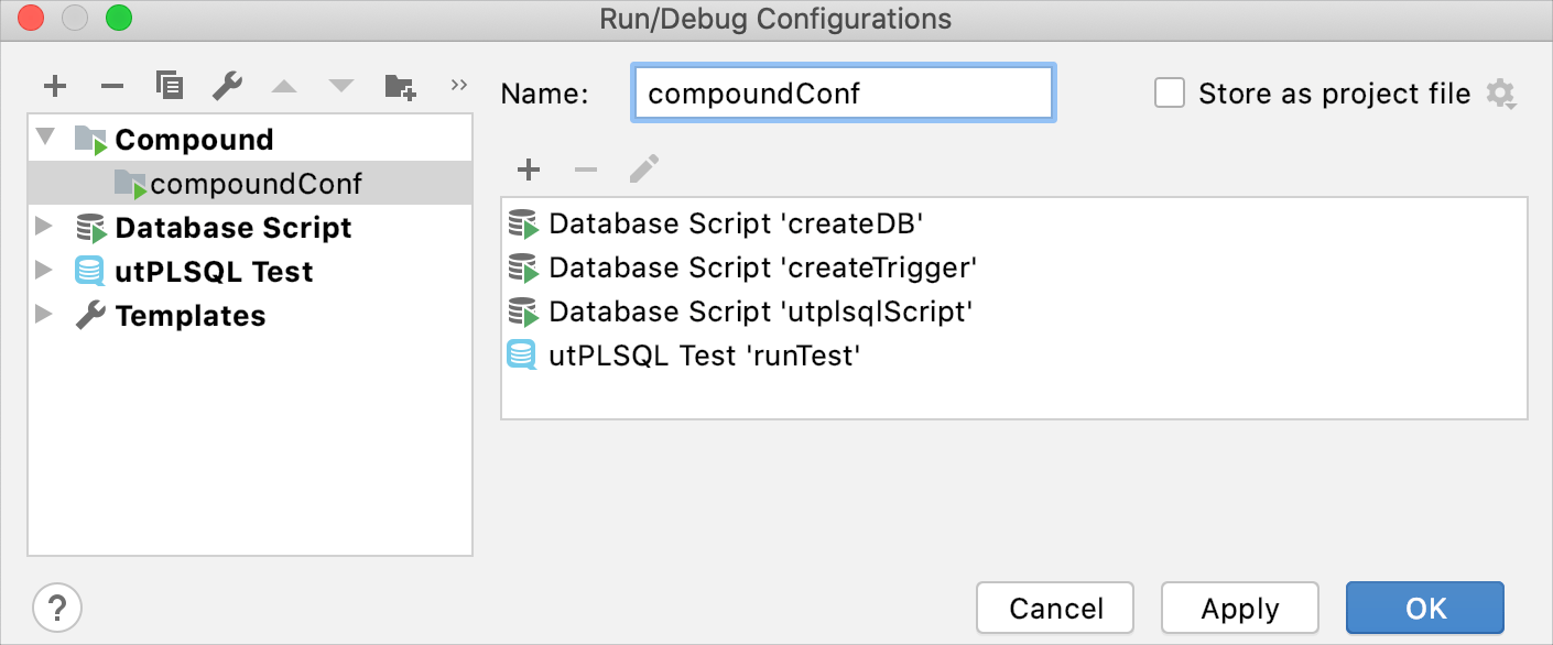 Create a compound run configuration