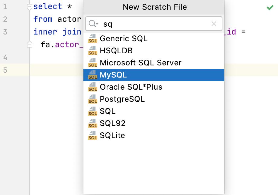 Create a scratch file
