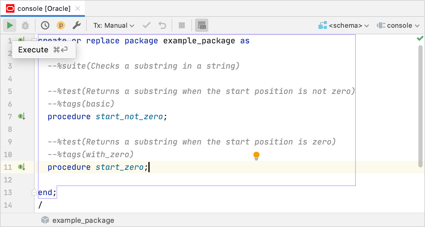Create a testing package