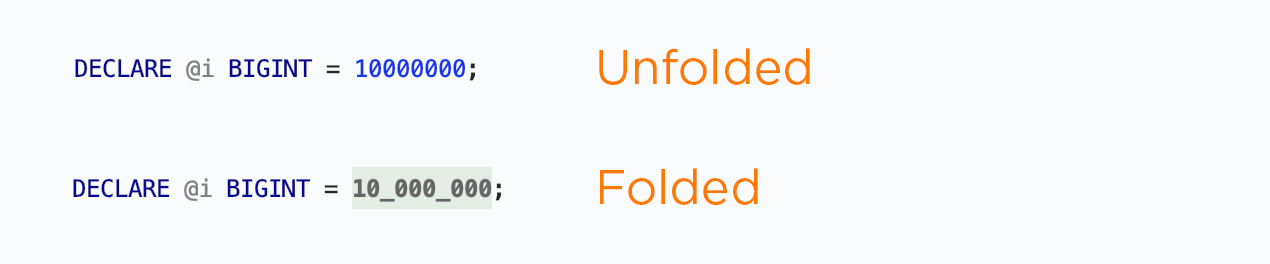 Fold big numbers