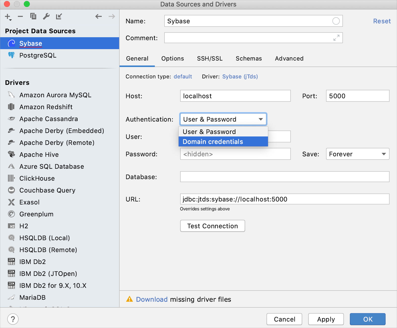 Integration with Sybase ASE