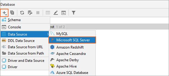 Add SQL Server (jTds) as a data source