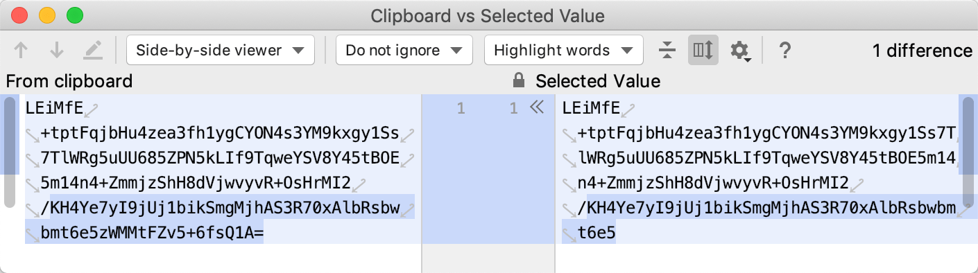 Clipboard vs Selected dialog