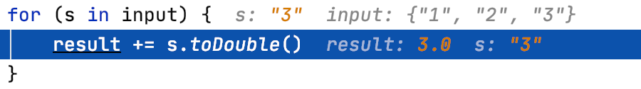 Inline debugging helps us get information about the variable values