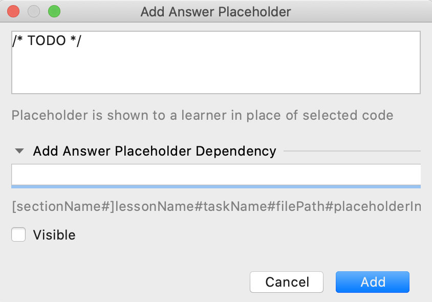 edu answer placeholder add dependency js png