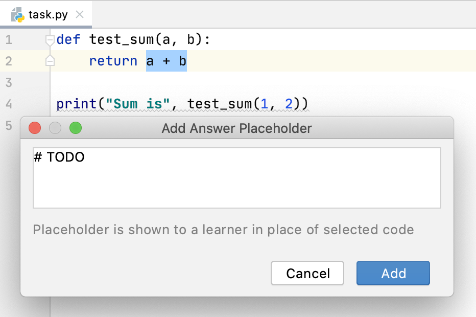 edu answer placeholder python png